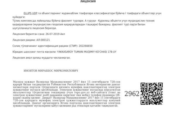 Приложения №3 Лицензия инженерное изыскания-1